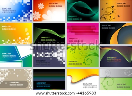 Business Card Design set - stock vector