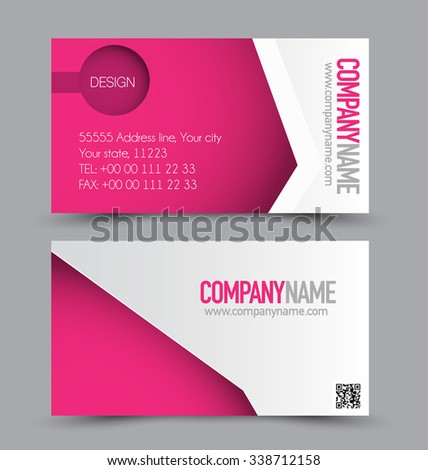 Business card design set template company stock vector 338712158 business card design set template for company corporate style pink color vector illustration colourmoves