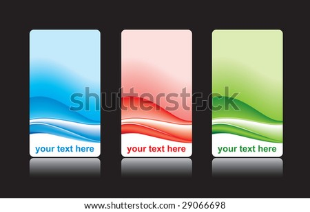 Business card design set vector - stock vector