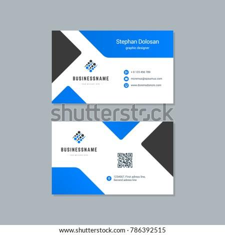 Business Card Design Template Abstract Modern Stock Vector - Modern business card design templates