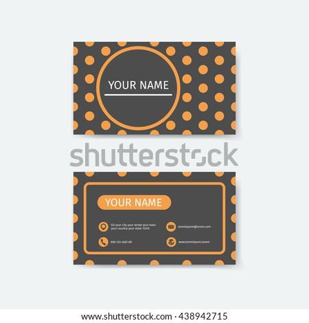 Business card design template polka dots stock vector royalty free business card design template polka dots concepts wajeb Choice Image