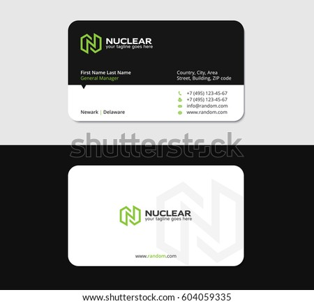 Business card design template n letter stock vector hd royalty free business card design template with n letter green energy thecheapjerseys Image collections