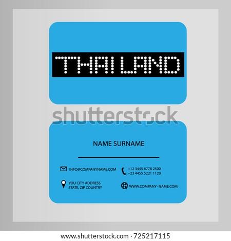 Business card design thailand vector stock vector 725217115 business card design thailand vector reheart Images
