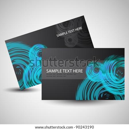 business card design vector - stock vector