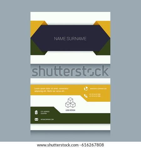 Business card designs easy adapt business stock vector 616267808 business card designs easy to adapt business vector set colourmoves