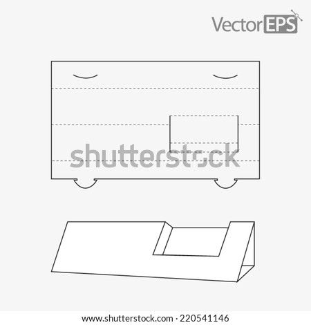 Business card display - stock vector