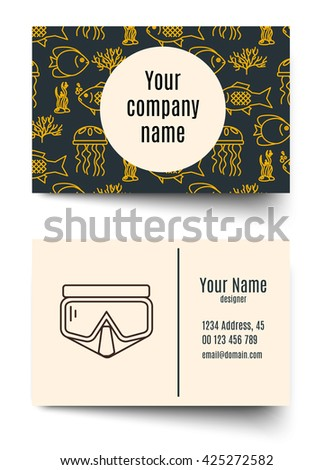 Business card for diving firms