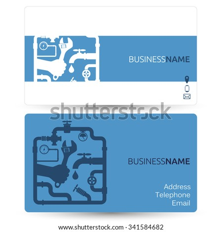 Business card for repair plumbing or running water