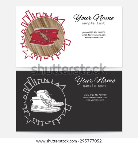 Business card sports shoe stores sports stock vector royalty free business card for the sports shoe stores for sports organizations colourmoves