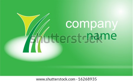 Business card. Green set. Simply change. Other business cards you can see in my portfolio. - stock vector