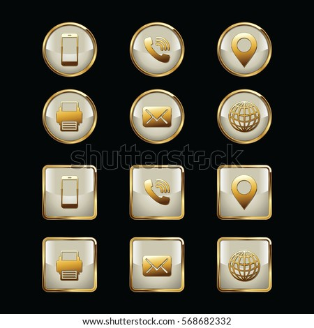 Business card icon set web icons stock vector royalty free business card icon set web icons luxury icons reheart Images