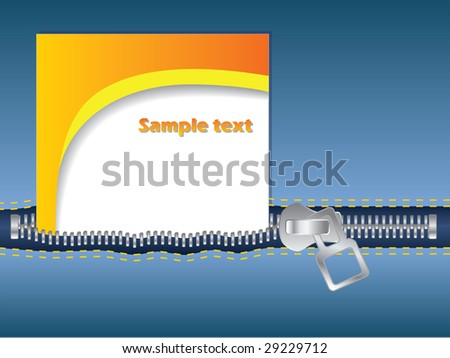Business card in pocket - stock vector