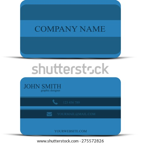 business card in vector