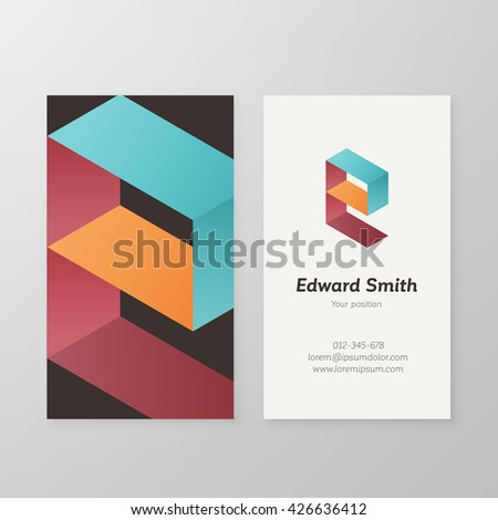 Business card isometric logo letter e stock vector hd royalty free business card isometric logo letter e vector template vector business card personal logo sign graphic thecheapjerseys Image collections
