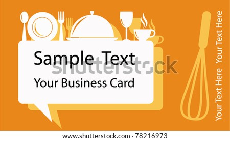 Business Card or Banner Design in Food Drink Coffee and Bakery Concept - stock vector