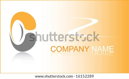 Business card. Orange set. Simply change. Other business cards you can see in my portfolio. - stock vector