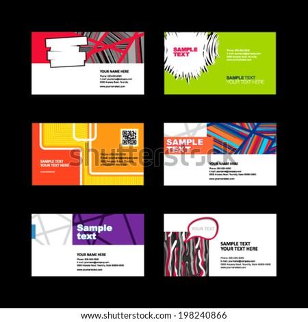 Business Card set  - stock vector