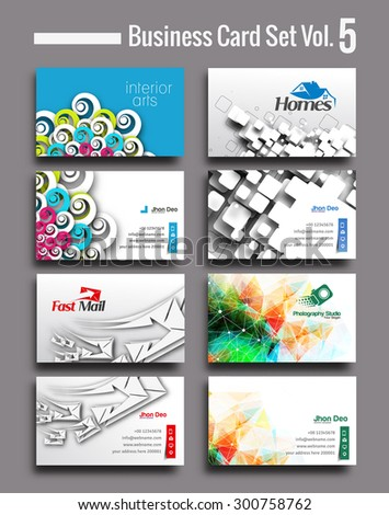 Business card Set , elements for design. - stock vector