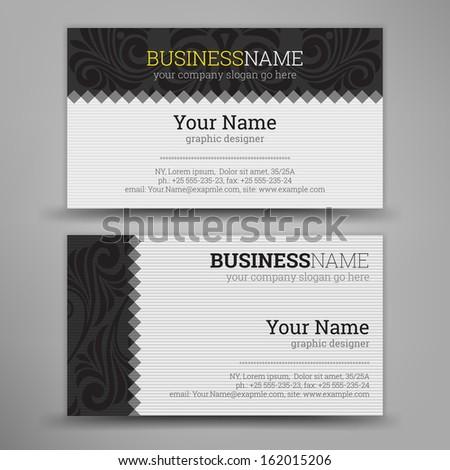 Business Card Set. Vector illustration. - stock vector
