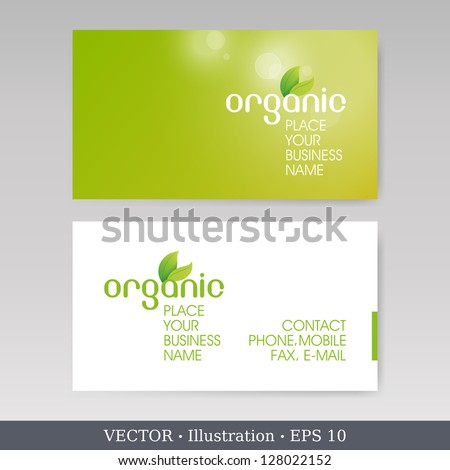 Business Card Set.  Vector illustration. EPS10 - stock vector