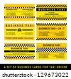 Business card taxi - sixth set, vector illustration 10 eps - stock vector