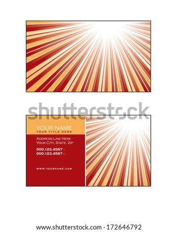 Business Card Template. Abstract Illustration. Eps10. - stock vector