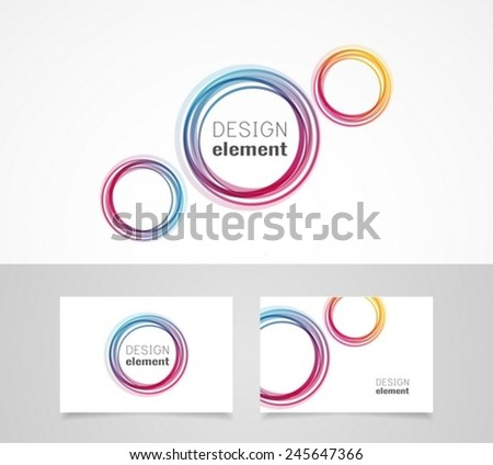 Business card template and  logo design template - stock vector