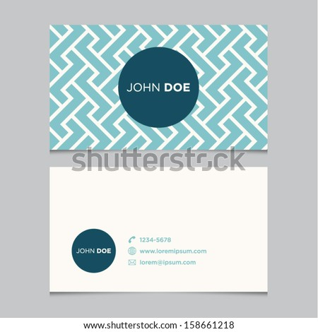 Business card template blue pattern vector stock vector 158661218 business card template blue pattern vector design editable accmission Choice Image