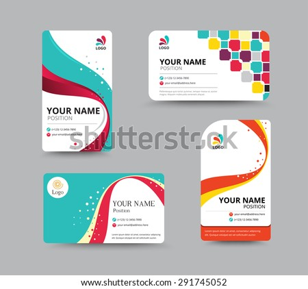 Business card template design with floral concept. vector illustration. - stock vector