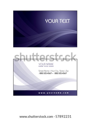 Business Card Template. eps10 format - stock vector