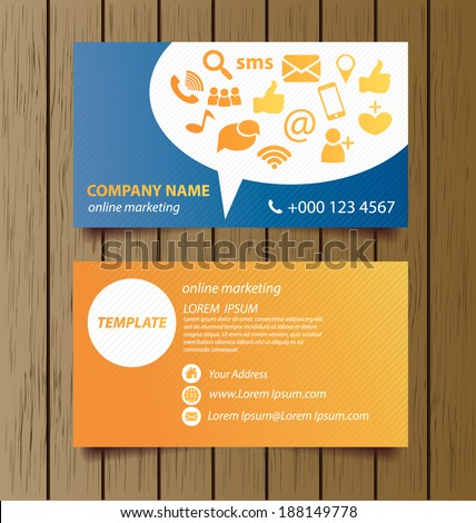 Business card template online marketing vector stock vector business card template for online marketing vector illustration fbccfo Gallery