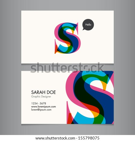 Business card template letter s stock vector hd royalty free business card template letter s colourmoves