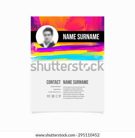 Business card template paint splash abstract stock vector 295110452 business card template paint splash abstract background fbccfo Choice Image