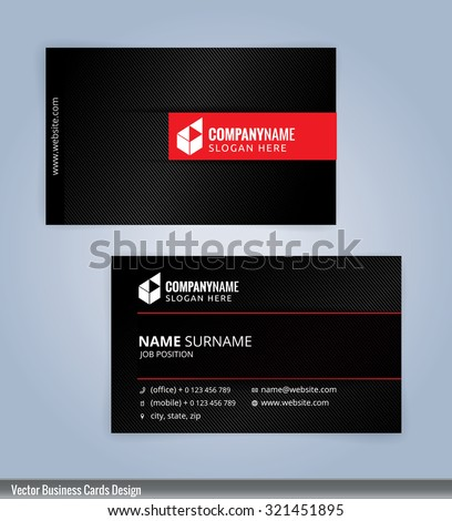 Business card template red black background stock vector royalty business card template red and black background illustration vector 10 colourmoves