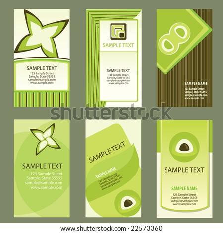 Business Card Template Set - stock vector
