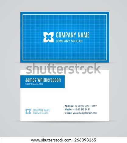 Business card template set blueprint editable stock vector business card template set blueprint editable vector malvernweather Gallery