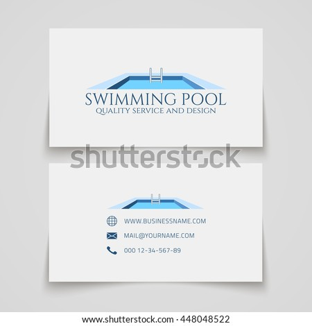 Business card template swimming pool quality stock vector hd business card template swimming pool quality service and design conceptual logo vector illustration colourmoves Choice Image