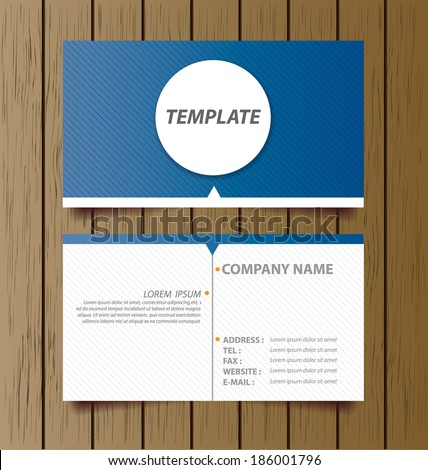 business card template vector illustration - stock vector