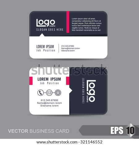 business card template,Vector illustration - stock vector