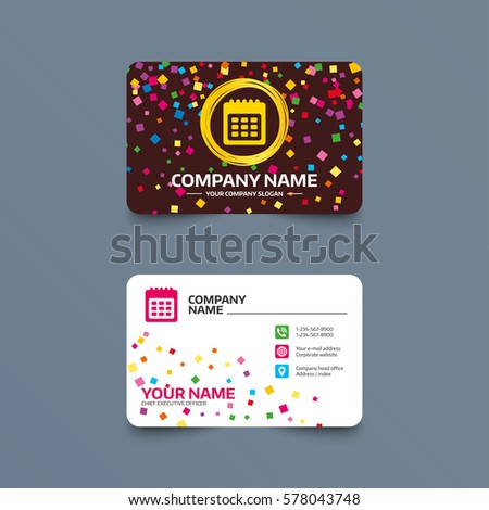 Calendar for business cards gidiyedformapolitica calendar for business cards fbccfo Gallery