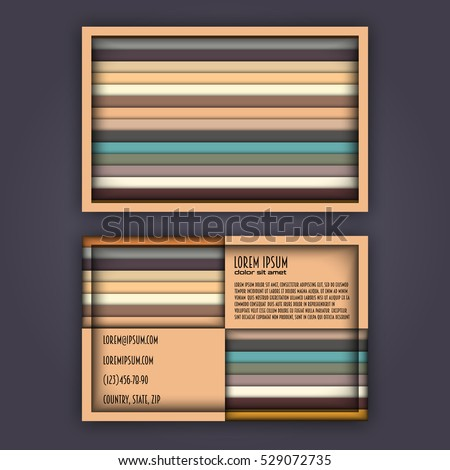 Business card template 3d paper colorful stock vector 529072735 business card template with 3d paper colorful lines background cheaphphosting Images