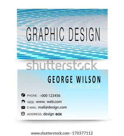 Business card template with flat user interface,vector design