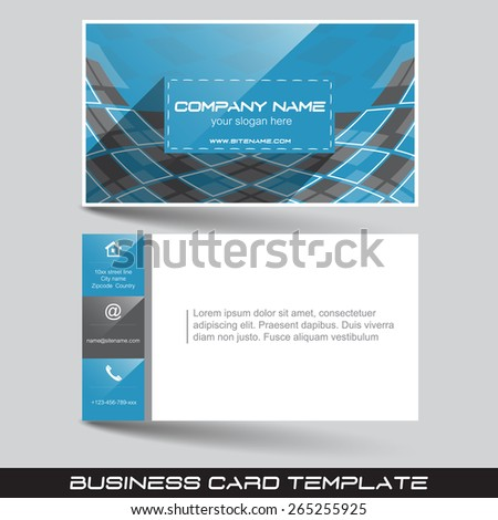 Business card template front back sidedesign stock vector hd business card template with front and back sidedesign for your working or personal presentation reheart Images