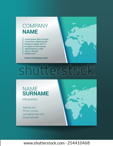 Business card template world map stock vector royalty free business card template world map colourmoves