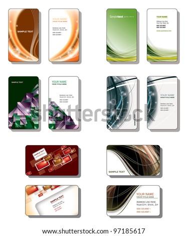 Business Card Templates. - stock vector