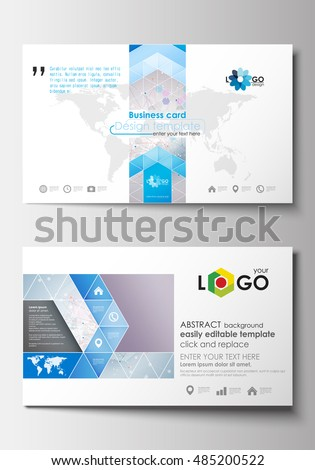 Business card templates cover design template stock vector 485200522 business card templates cover design template easy editable blank abstract flat layout wajeb Gallery