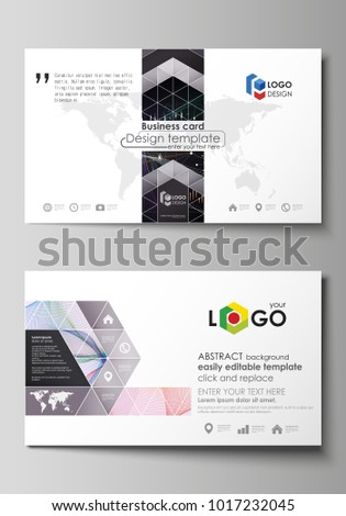 Business card templates editable layout abstract stock vector business card templates editable layout abstract vector design template colorful abstract infographic background reheart Image collections