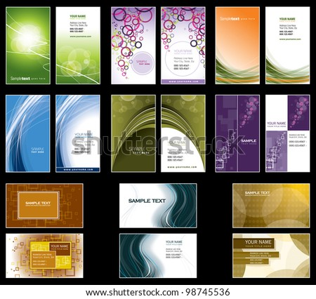 Business Card Templates. Vector Design. Eps10.