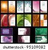 Business Card Templates. Vector Design. Eps10 Format. - stock vector