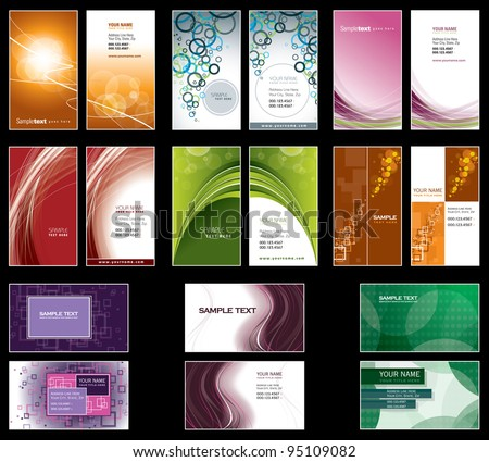 Business Card Templates. Vector Design. Eps10 Format.